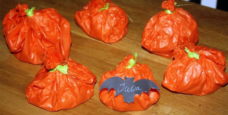Pumpor med godis - halloween