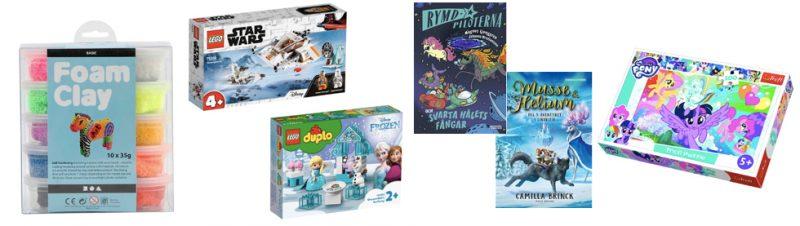 Fynda böcker, pyssel, pussel och LEGO på erbjudande såhär i vabruaritider!