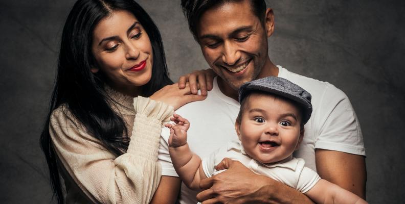 Alvaro Estrella med familj